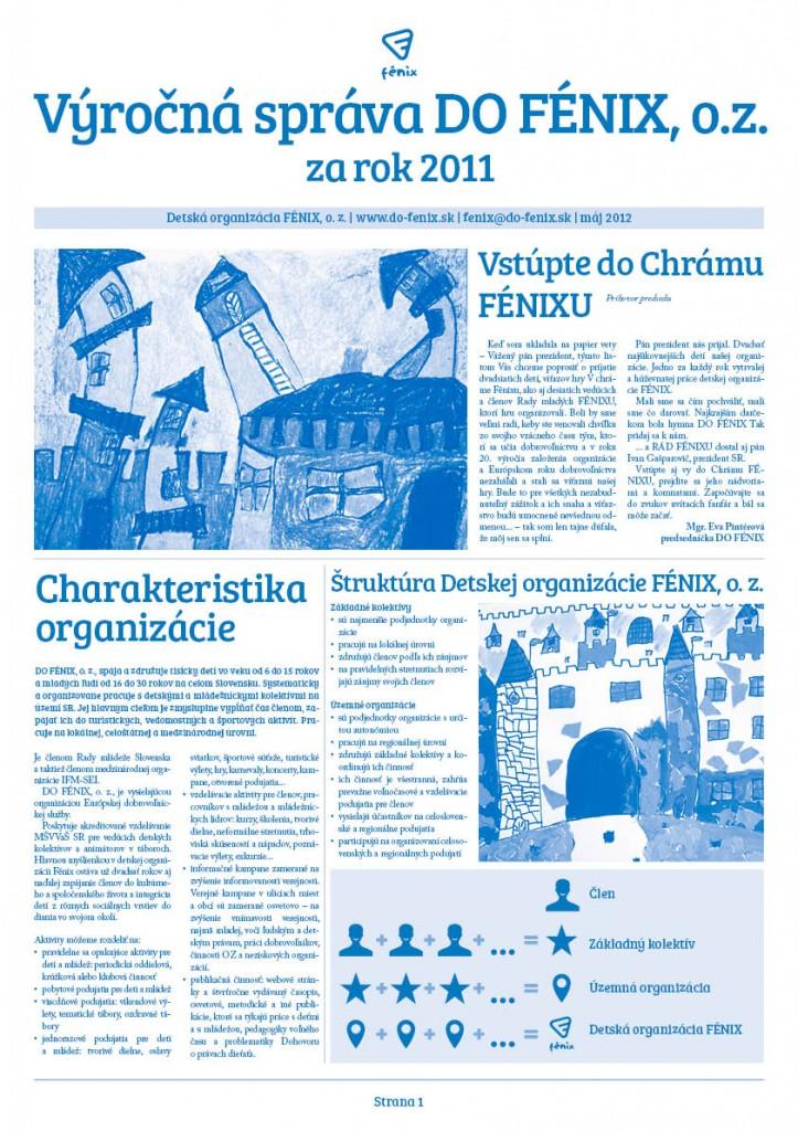 Výročná správa DO Fénix, o.z. za rok 2011
